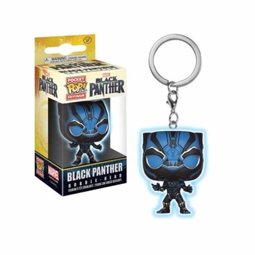 funko pop poket keychain black panter luminoso