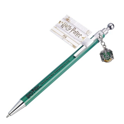 penna con ciondolo serpeverde harry potter