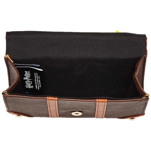 borsetta con tracolla effetto pelle con toppe harry potter interno