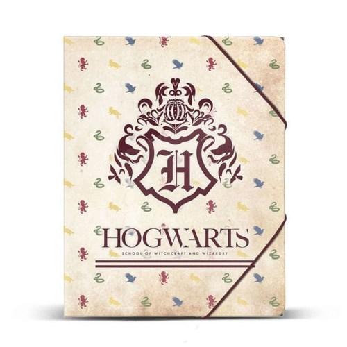 Cartella rigida con stemma di Hogwarts Harry Potter
