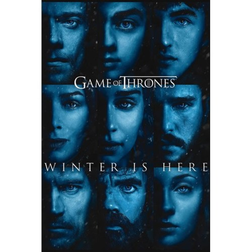 Poster Game of Thrones Winter is Here volti personaggi