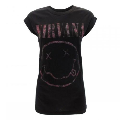 t-shirt nirvana smile femminile