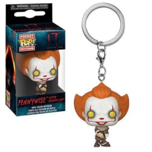 Pocket Pop Keychain Pennywise with beaver hat IT