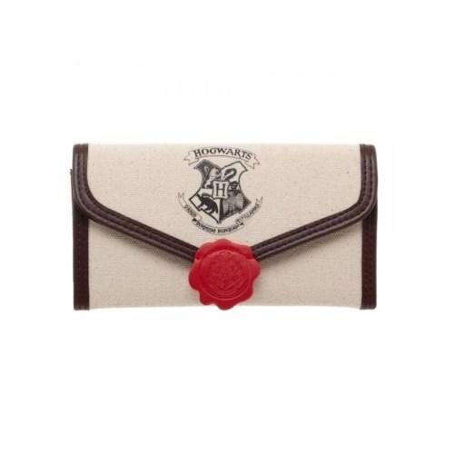 Portafoglio in tela Lettera Hogwarts