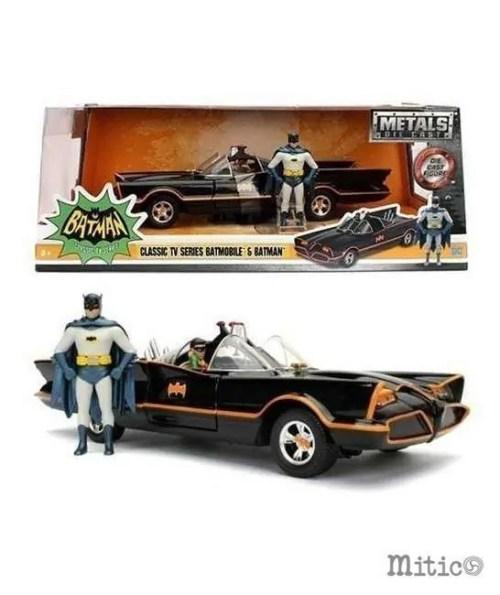 Batman con Batmobile classic tv series metal die cast