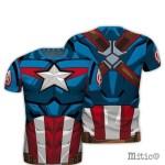t-shirt full print Captain America