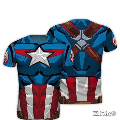 t-shirt full print Captain America