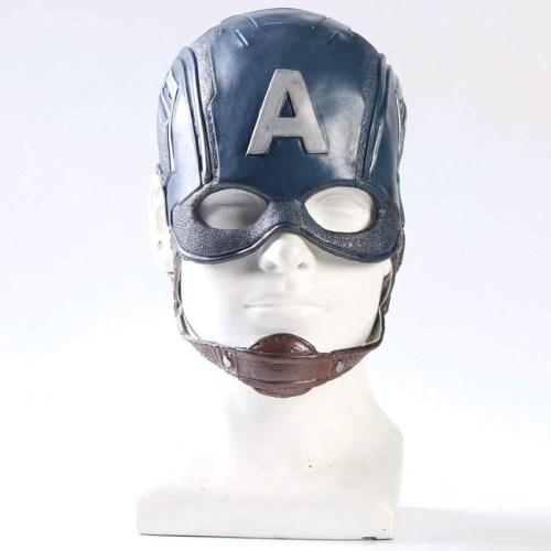 maschera in gomma casco di capitan america