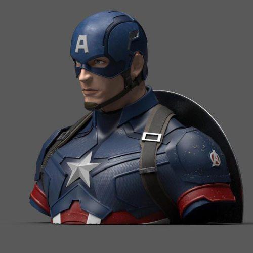 Salvadanaio Captain America Marvel