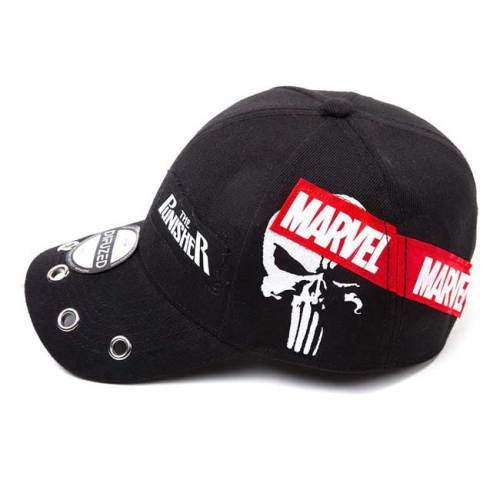 Cappello con visiera e cinturino regolabile The Punisher con patch dettaglio