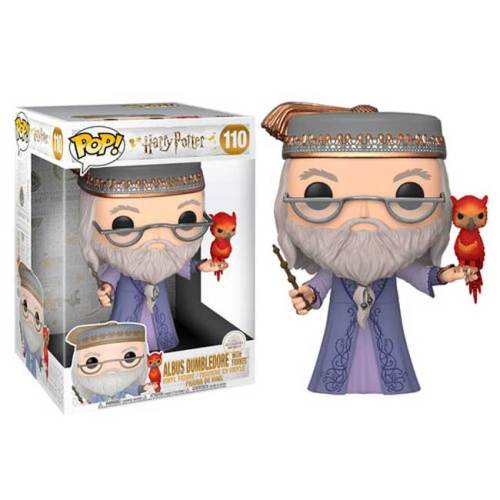 Funko Pop Albus Dumbledore with Faweks Harry Potter Super Sized 110