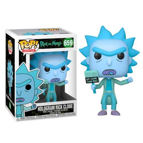 Funko Pop Rick and Morty Hologram Rick Clone 659