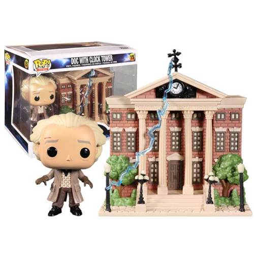 Funko Pop Doc With Clock Tower Back to the Future 15