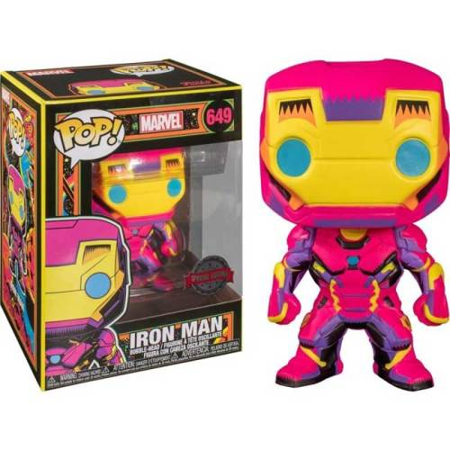 Funko POP Iron Man 649 Black Light Marvel Special Edition