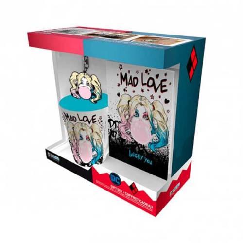 Harley Quinn Gift Box Tazza Portachiavi Notebook