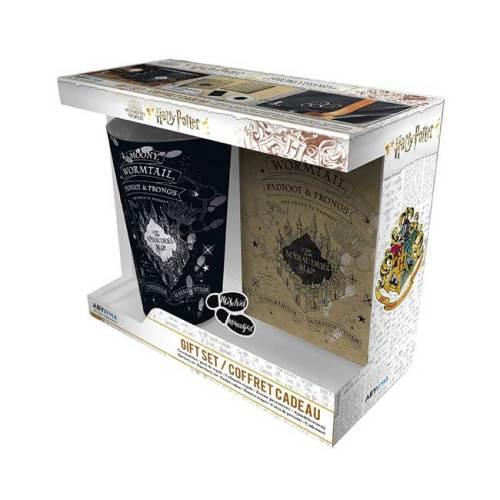 Harry Potter Mappa del Malandrino Gift Box Bicchiere XXL spilla Notebook