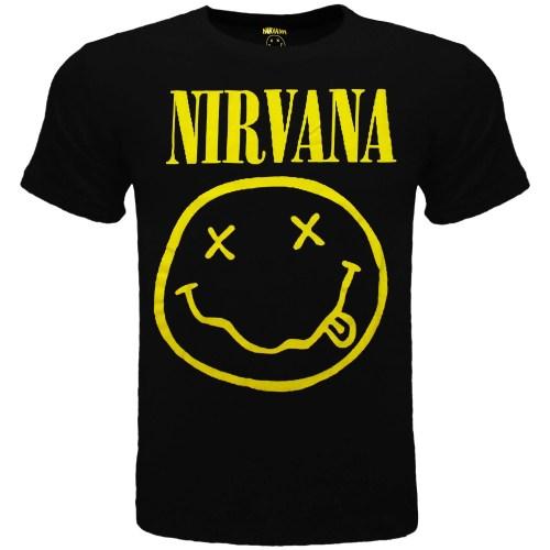 T-Shirt Music Nirvana Bambino Smile