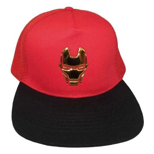 Cappello Iron Man maschera regolabile con retina posteriore