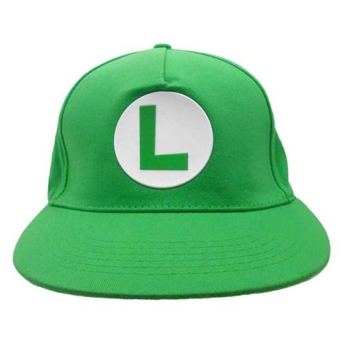 Cappello regolabile Nintendo Super Mario logo Luigi