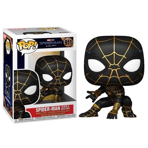 Funko POP Spider Man Black e Gold Suit 911 No way Home