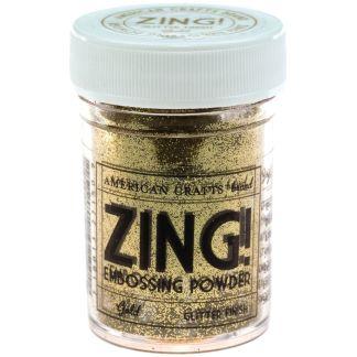 Polvo Embossing Dorado, marca Zing.