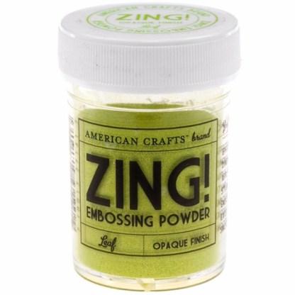 Polvo Embossing Verde Lima, marca Zing.