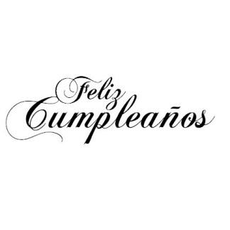 Sello Frase Feliz Cumpleaños