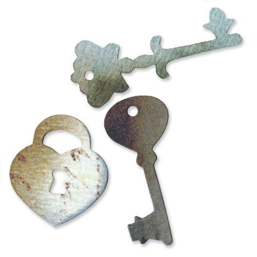 Sizzix Originals Die - Heart Lock and Keys