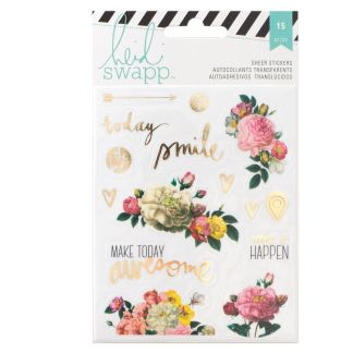 Stickers Floral Memory Planners Heidi Swapp