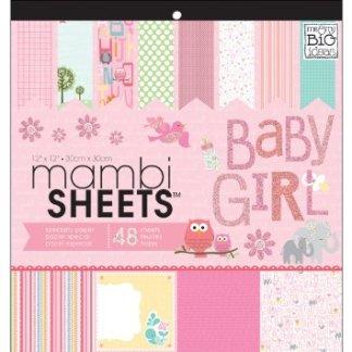 Kit de Papeles Baby Girl, Mambi Sheets