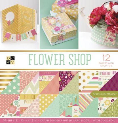 Stack Papel Estampado Flower Shop, DCWV