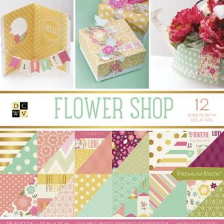 Stack Papel Estampado Flower Shop, DCWV