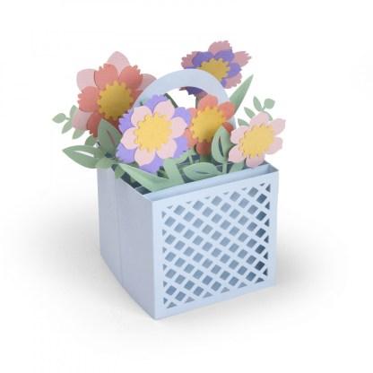 Sizzix Thinlits Die Set 12PK - Card in a Box, Flower Basket