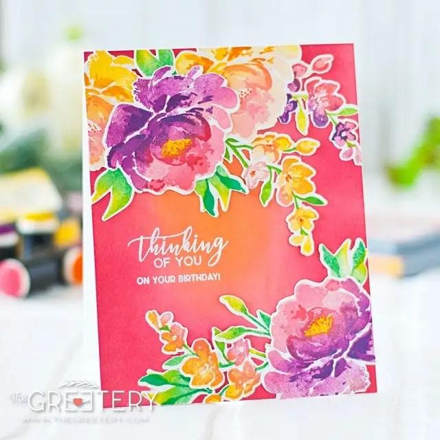 Estampado en capas con Fleur Impressions y Tintas Distress Ranger