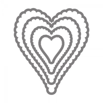 Framelits Hearts Scallop N° 2, Sizzix