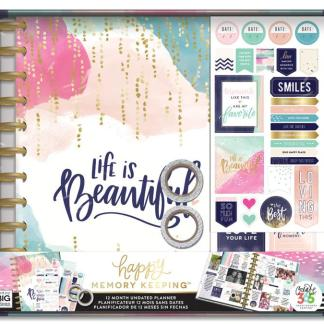 "Kit 12 meses Happy Planner ""Life it is Beautiful"", Me & My Big Ideas"