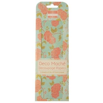 Paper Pack Deocupage Orange Bloom