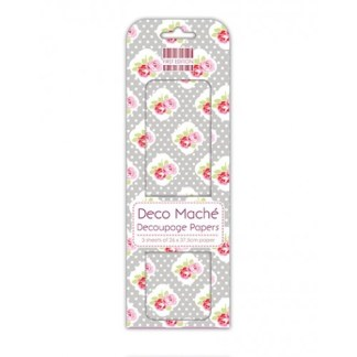 Paper Pack Deocupage Polka Dot Rose