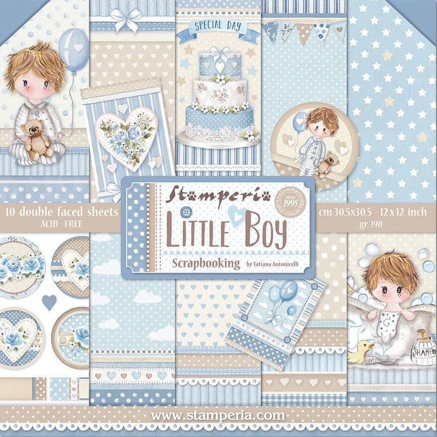 Pack Paper Collection Little Boy, Stamperia