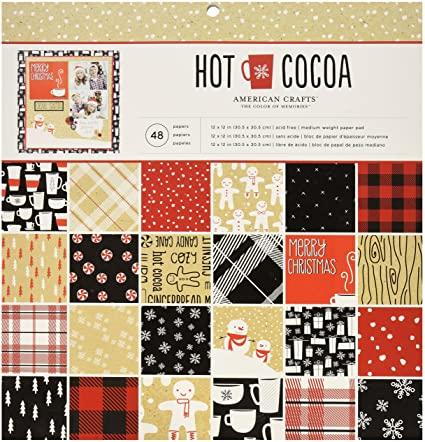 "Pasa el mouse encima de la imagen para aplicar zoom American Crafts Paper Pad, 12 x 12,"" Hot Cocoa"
