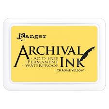 Pad de Tinta Yellow, Archival Ink