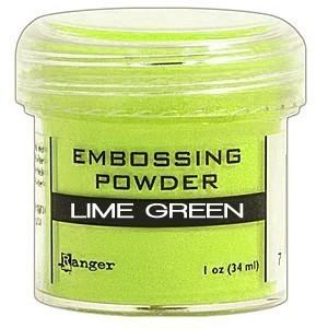 Lime Green Emboss Powder