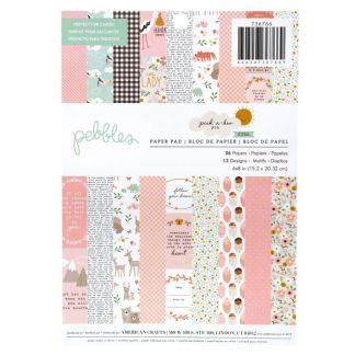 "Pack de Papeles Peek A Boo You, 6"" x 8"", Pebbles"