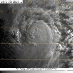 Visible light satellite image in the early morning hours of Wednesday 11 June 2014 showing Tropical Cyclone Two over the Arabian Sea, Northern Indian Ocean.