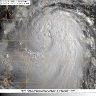 Visble light satellite image of Typhoon MATMO on 21 Juky 2014
