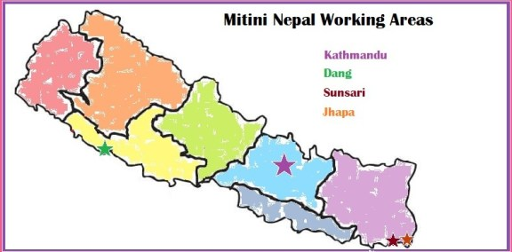 LBTI Support Group Map Nepal, LGBT Nepal, Lesbian Organization, Mitini Nepal Working Areas, Provincial Map Nepal