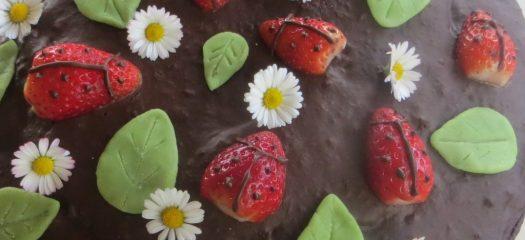 Marienkäfer aus Erdbeeren