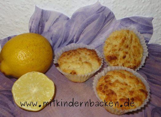 Eifreie Muffins mit Zitrone und Quark, ohne Ei