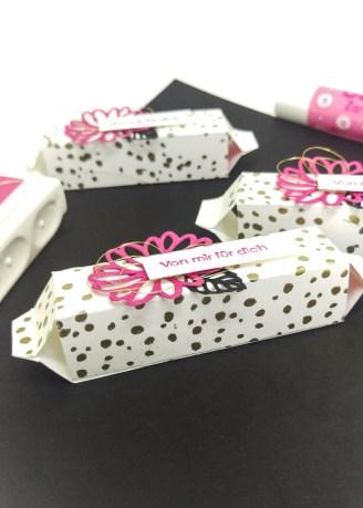 Stampin' Up Goodie Gastgeschenk Labelloverpackung Besondere Grüße Pink mit Pep 3 mitliebeundpapier.wordpress.com