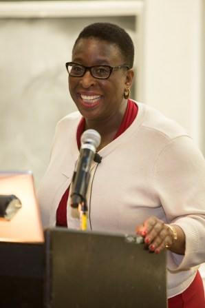 """""""You have to believe the sky's the limit. You can't have limitations on your thoughts,"""" Dr. Yvonne Spicer, Ed.D told students during the ceremony. Spicer was a keynote speaker of the event."""